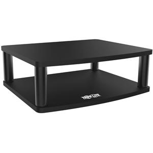 Tripp Lite Adjustable Monitor Stand Display Riser Swivel w/ Storage Shelf