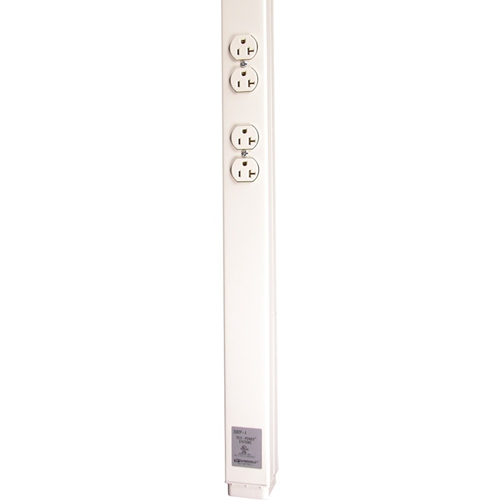 Wiremold 25DTP Series 15' Tele-Power Pole, Ivory