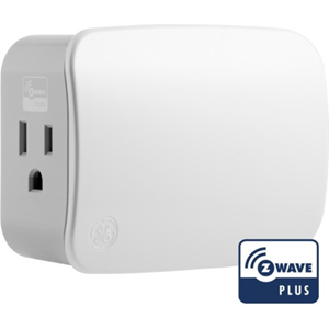 GE Z-Wave Plus Plug-In Two-Outlet Smart Switch
