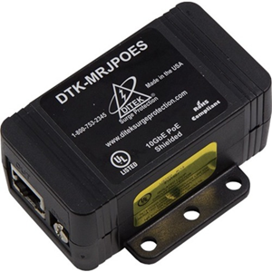 DITEK DTK-MRJPOES Shielded Gigabit Power Over Ethernet Surge Protection
