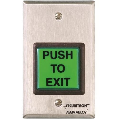 Securitron Emergency Exit Button w/ Timer Single Gang