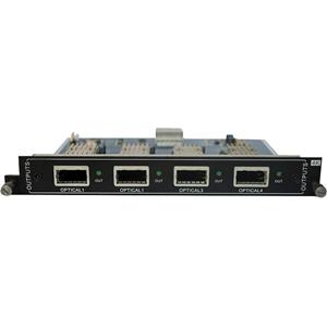 KanexPro 4-Output Fiber card to Modular matrix with 4K