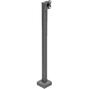 PEDESTAL PRO 42-2LP Mounting Pole for Card Reader, Intercom System, Access Control System, Telephone Entry System - Black Wrinkle
