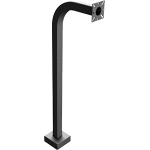 PEDESTAL PRO 48-9C Mounting Pole for Card Reader, Intercom System, Keypad, Telephone Entry System, Access Control System - Black Wrinkle