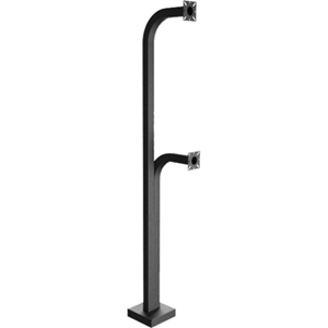 PEDESTAL PRO 72-9C-D Mounting Pole for Card Reader, Access Control System, Keypad, Card Reader, Intercom System, Telephone Entry System, Camera - Black Wrinkle