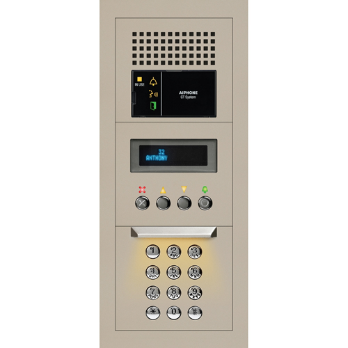 Aiphone 1 x 3 Modular Audio Entrance Station with Digital Directory