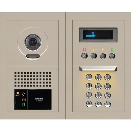 Aiphone GTV-DES202B 2 x 2 Modular Video Entrance Station with Digital Directory