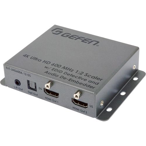 Gefen 4K Ultra HD 600 MHz 1:2 Scaler w/ EDID Detective and Audio De-Embedder