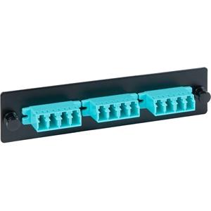 ICC LGX Adapter Panel, 3 Quad LC, 12F, Aqua, MM