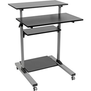 Tripp Lite Rolling Standing Desk/Workstation on Wheels, Height Adjustable, Mobile