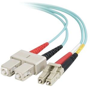 Quiktron 5m Value Series LC SC 10G Duplex PVC Fiber Cable