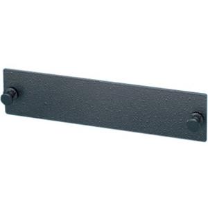 Ortronics Fiber Adapter Panel, Blank, Black