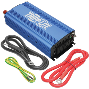Tripp Lite 750W Compact Power Inverter Mobile Portable 2 Outlets 1 USB Port