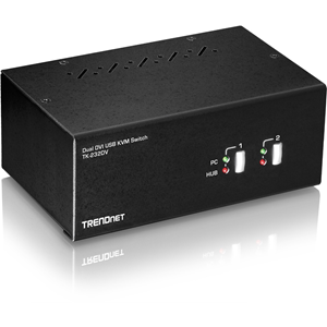 TRENDnet 2-Port Dual Monitor DVI KVM Switch