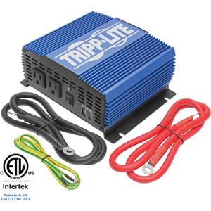 Tripp Lite 1500W Compact Power Inverter Mobile Portable 2 Outlet 2 USB Port
