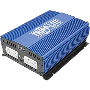 Tripp Lite 2000W Compact Power Inverter Mobile Portable 4 Outlet 2 USB Port
