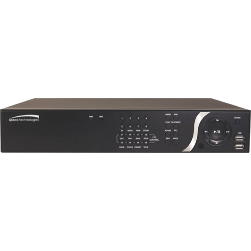 Speco 8 Channel NVR with 8 Built-In PoE+ Ports