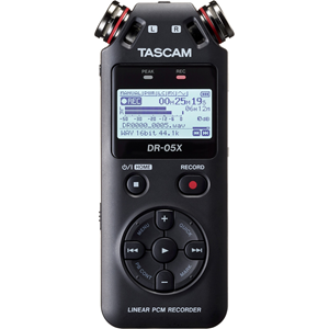 TASCAM Stereo Handheld Digital Audio Recorder and USB Audio Interface DR-05X