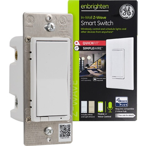 Enbrighten Z-Wave Plus Smart Switch with QuickFit and SimpleWire, White