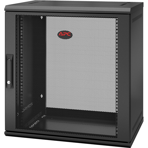 APC by Schneider Electric NetShelter WX 12U Single Hinged Wall-mount Enclosure 400mm Deep