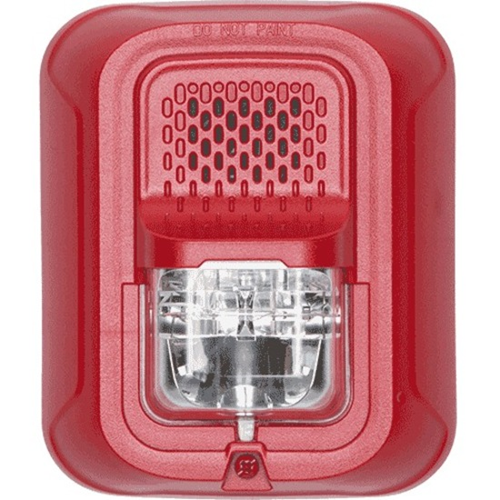 System Sensor Chime Strobe, Wall, Red