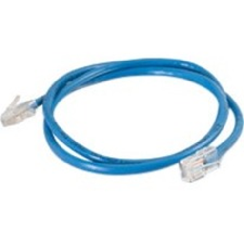 Quiktron 3ft Value Series Cat6 Non-Booted Patch Cord - Blue