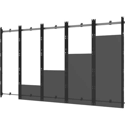 Peerless-AV DS-LED27BDL-5X5 Wall Mount for Video Wall, LED Display - Black, Silver - TAA Compliant