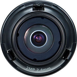 1/2.8in. 2MP CMOS with a 2.4mm fixed focal lens FoV: H: 135.4in. V: 71.2in. for the PNM-7002VD