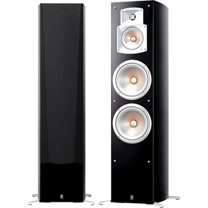 Yamaha NS-777 3-way Floor Standing Speaker - 100 W RMS - Black