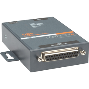 Lantronix UDS1100 - One Port Serial (RS232/ RS422/ RS485) to IP Ethernet Device Server - UL864, US Domestic 110VAC