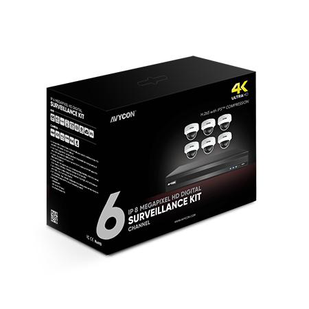 8ch 8mp IP Kit 6 Vd 4k Cams 2t
