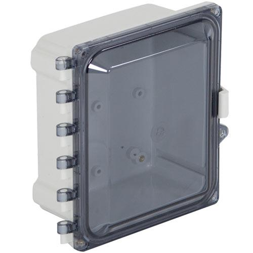 """Safety Technology Enclosure Polycarbonate, 8"""" X 6"""" X 5"""", Tinted"""
