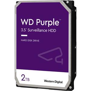 """WD Purple WD20PURZ 2 TB 3.5"""" Intern Harde schijf - SATA - 5400rpm - 64 MB buffer"""