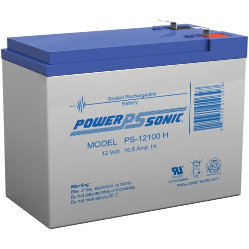 Power-Sonic PS-12100H Algemene doeleinden Batterij - 10500 mAh - Gesloten lood (SLA) - 12 V DC - Oplaadbare batterij