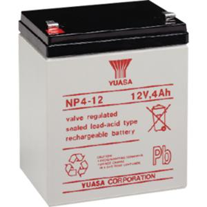 Yuasa NP4-12 Multipurpose Battery - 4000 mAh - Sealed Lead Acid (SLA) - 12 V DC - Battery Rechargeable