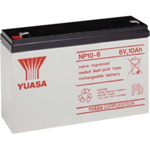 Yuasa NP10-6 Multipurpose Battery - 10000 mAh - Sealed Lead Acid (SLA) - 6 V DC - Battery Rechargeable