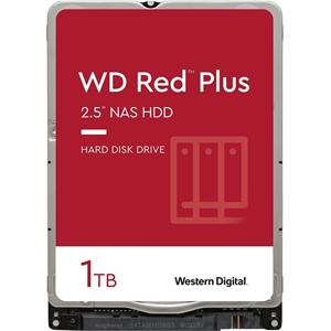 "WD Red Plus WD10JFCX 1 TB Hard Drive - 2.5"" Internal - SATA (SATA/600) - Storage System Device Supported - 5400rpm - 180 TB TBW - 3 Year Warranty"
