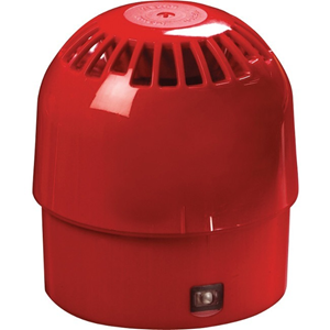 Apollo Security Alarm - 28 V DC - 100 dB(A) - Audible - Wall Mountable - Red