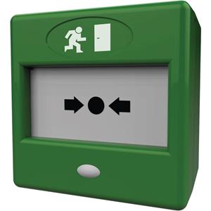 CQR FP3 Manual Call Point - Green - Plastic, Glass, Acrylonitrile Butadiene Styrene (ABS)