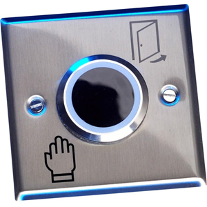 Elmdene Touch-free Button - Silver - Stainless Steel, Plastic