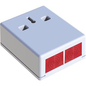 CQR DP3 Push Button - White - Acrylonitrile Butadiene Styrene (ABS)
