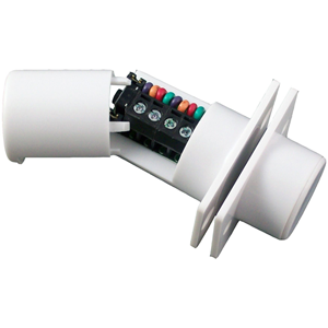 CQR FC508 Cable Magnetic Contact - SPST (N.O.) - 4 mm Gap - For Double Door - Flush Mount - White