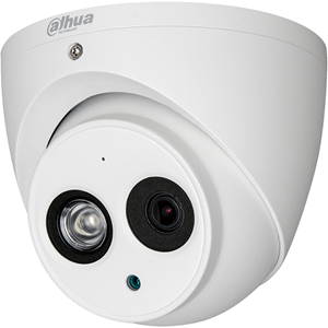 Dahua Lite DH-HAC-HDW1200EM-A 2 Megapixel Surveillance Camera - Eyeball - 50 m Night Vision - HD-CVI - 1920 x 1080 - CMOS - Junction Box Mount, Wall Mount, Pole Mount