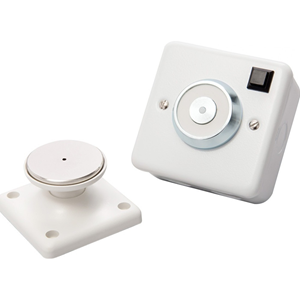Cranford Controls Electromagnetic Door Holder - Wall Mounted - Flame Retardant, Low Profile Design, Spring Ejector, Release Button - Metal - 86 mm x 81 mm x 62 mm