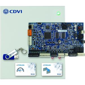 CDVI Atrium Door Access Control Panel - Door - Proximity - 10000 User(s) - 2 Door(s) - Ethernet - Network (RJ-45) - Serial