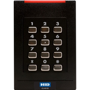 HID iCLASS SE RK40 Contactless Smart Card Reader - Black - Cable