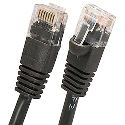 W Box 0E-C5EBK36 3ft. CAT5E Patch Cable, Black - 6 Pack
