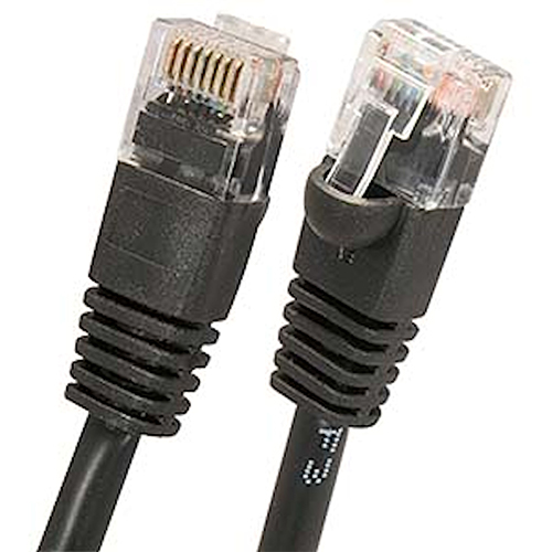 W Box 0E-C6BK56 5ft. CAT6 Cable, Black - 6 Pack