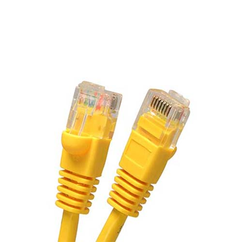 W Box 0E-C6YW76 7ft. CAT6 Cable, Yellow - 6 Pack