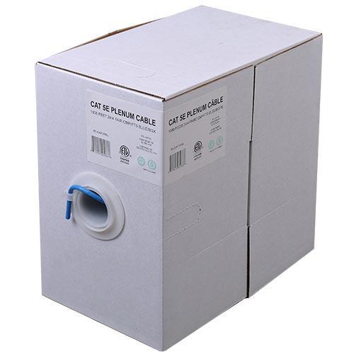 ADI Wire 1000ft. Cat5E 24/4 Plenum CMP/FT6 - Blue